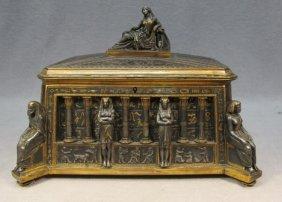 Orientalist French Bronze Box