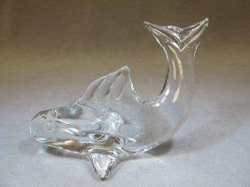 Daum Nancy Glass Fish Statue
