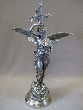 Antique French Silver-plate Spelter Statue