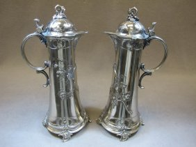 Pair Of WMF Silver-plate Jugs