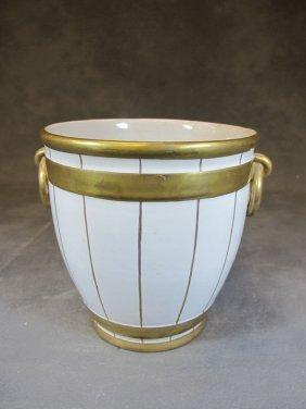 Probably French Porcelain Vase Marked