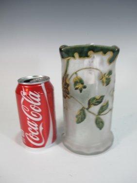 Mont Joye St Denis Legras Cameo Glass Vase