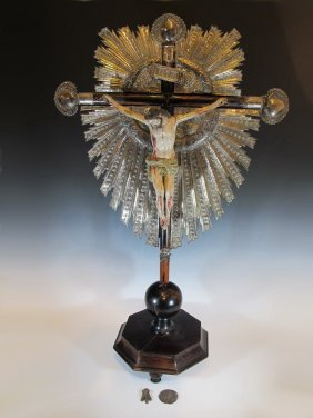 18th/19th European Silver & Wood Jesuschrist