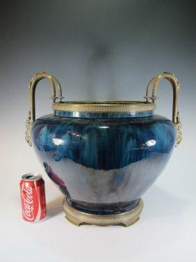 Probably French Sevres Bronze & Porcelain Bowl