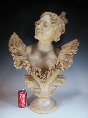 Pietro Bazzanti (c.1823-c.1874) Italian Alabaster Bust