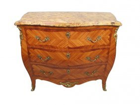 Antique French Louis Xv Style Bombe Chest