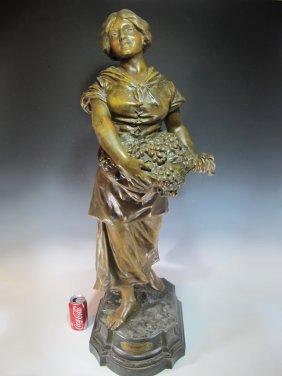 Huge Luis Domenech (1873-?) Spelter Statue