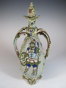 Vintage Asian Moriage Porcelain Bottle