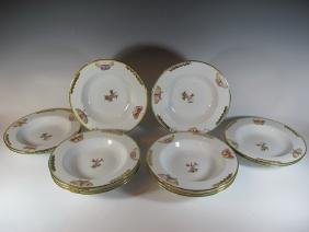 12 Jean W Serpa Hand Painted Plates