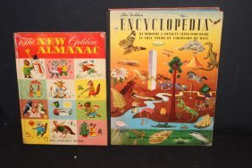 2 Nice Children's Books The Golden Book Almanac And