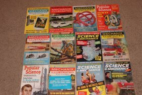 12 Mechanics Illustrated In Popular Science 1962 - 1963
