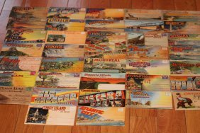 37 Old Postcard Folders With Over 700 Views - All In