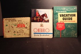 3 Travel Booklets 1956 Rand Mcnally Vacation Guide -