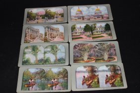 8 Super U.s. Color View Cards In Exc. Cond - Very