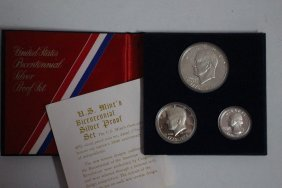 1776 To 1976 Bicentennial Silver Proof Set With Coa All