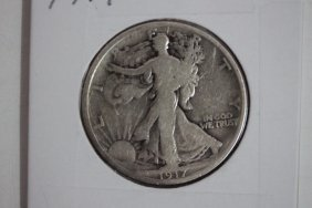 1917 Walking Liberty Half-dollar Very Good