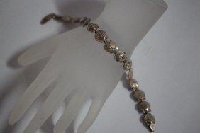 """Sterling Silver Shell Bracelet 7"""" Long"""