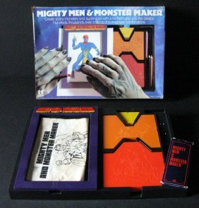 Mighty Men & Monsters - Vintage Drawing Set - Tomy