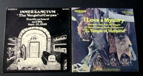 Radio Horror - Vintage Lp Records - Lot Of Two - Lp #1: