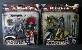Mcfarlane Monsters Playsets - Series #2, Lot Of Four,