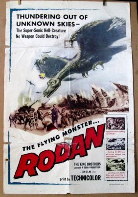 "Rodan - 1957 - One Sheet Movie Poster - 27""x 40"" - Nss#"