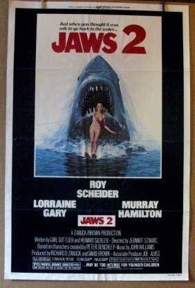 """Jaws 2 - 1978 - One Sheet Movie Poster - 27""""x 41"""" -"""