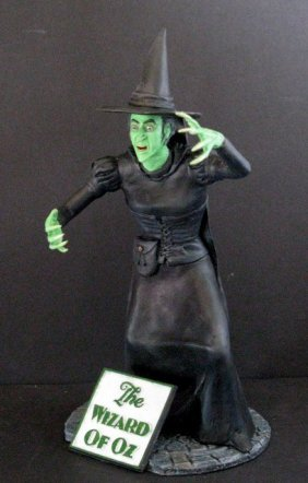 Wizard Of Oz Wicked Witch - Rare Painted Resin Model -