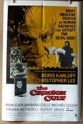 The Crimson Cult - 1970 - One Sheet Movie Poster