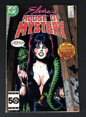 Elvira's House Of Mystery Comic Book #1 - Dc Comics,