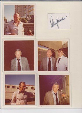 David Janssen Signature Autograph & Various Photos
