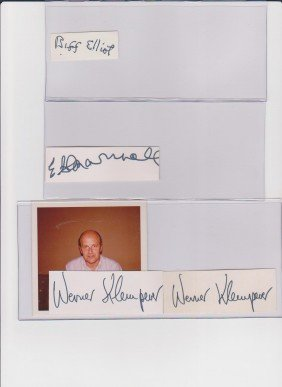E.G. Marshall 1914-1998, Autograph Signature, Ameri