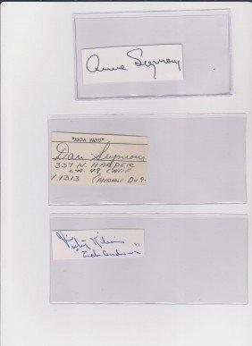 Anne Seymour 1909-1988 Autograph Signature American