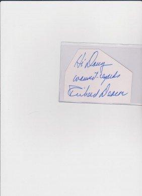 Richard Deacon 1921-1984 Autograph Signature Americ