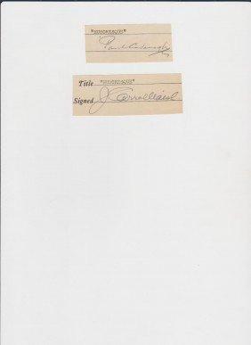Paul Cavanagh 1888-1964, 2 Signed Documents,  Engli
