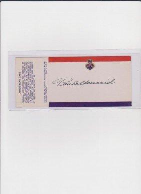 Paul Henreid 1908-1992 Signed Autograph Card, Austr