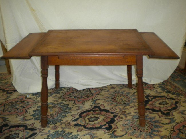 Amazing Antique Table With Pull Out Leaves