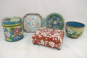 Collection Of Chinese Cloisonne Including Covered B