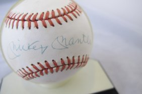 Official American League Baseball Signed By Mickey