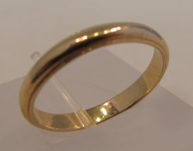 14K Yellow Gold Band, 2.44dwt