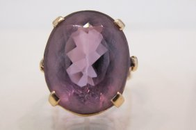 14K Yellow Gold Amethyst Ring, Amethyst=approx. 20cts.