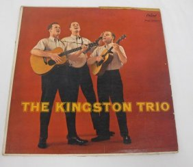 The Kingston Trio Autographed Record. To Penny,