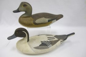 Pair Of Bald Pate Decoys By Horace Graham