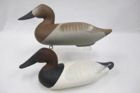 Pair Of Canvasback Decoys By Charlie Bryan