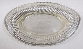 Sterling Silver Oval Dish, J.e. Caldwell, Philadelphia,