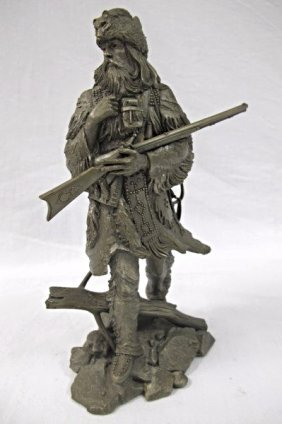 The Fur Trapper By Jim Ponter, Fine Pewter, Copyright