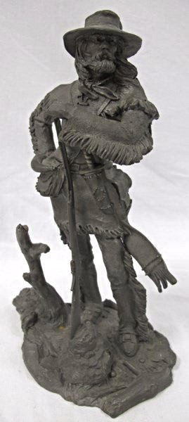 The Frontiersman By Jim Ponter, Fine Pewter, Copyright