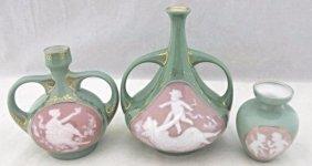 Pate-sur-pate Heubach Art Nouveau Porcelain Double