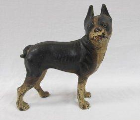 Antique Cast Iron Boston Terrier Door Stop