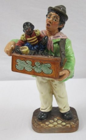 Royal Doulton Organ Grinder Porcelain Figure #hn2173,