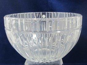 Large Tiffany & Co. Crystal Bowl In Original Box
